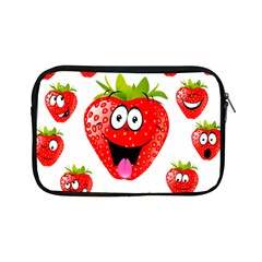 Strawberry Fruit Emoji Face Smile Fres Red Cute Apple Ipad Mini Zipper Cases by Alisyart