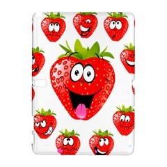 Strawberry Fruit Emoji Face Smile Fres Red Cute Galaxy Note 1 by Alisyart