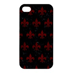 Royal1 Black Marble & Red Wood Apple Iphone 4/4s Premium Hardshell Case by trendistuff