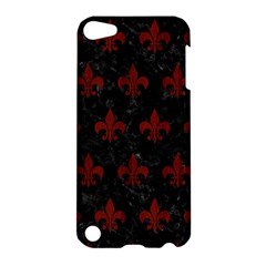 Royal1 Black Marble & Red Wood Apple Ipod Touch 5 Hardshell Case by trendistuff