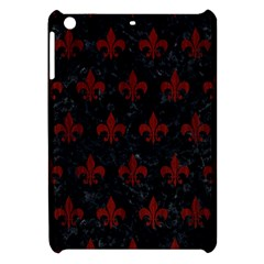 Royal1 Black Marble & Red Wood Apple Ipad Mini Hardshell Case by trendistuff