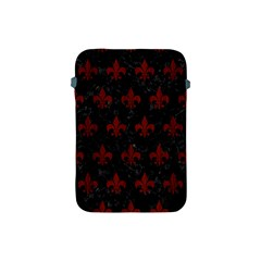Royal1 Black Marble & Red Wood Apple Ipad Mini Protective Soft Cases by trendistuff
