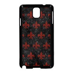 Royal1 Black Marble & Red Wood Samsung Galaxy Note 3 Neo Hardshell Case (black) by trendistuff