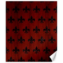 Royal1 Black Marble & Red Wood (r) Canvas 20  X 24   by trendistuff