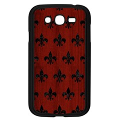 Royal1 Black Marble & Red Wood (r) Samsung Galaxy Grand Duos I9082 Case (black) by trendistuff