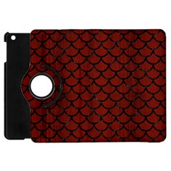 Scales1 Black Marble & Red Wood Apple Ipad Mini Flip 360 Case by trendistuff
