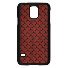 Scales1 Black Marble & Red Wood Samsung Galaxy S5 Case (black) by trendistuff