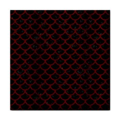 Scales1 Black Marble & Red Wood (r) Tile Coasters by trendistuff