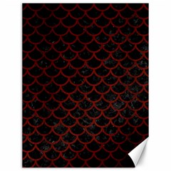 Scales1 Black Marble & Red Wood (r) Canvas 12  X 16   by trendistuff