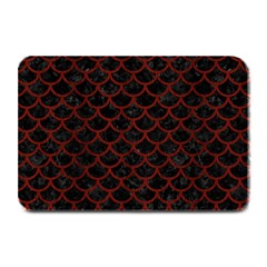 Scales1 Black Marble & Red Wood (r) Plate Mats by trendistuff