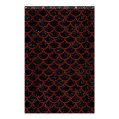 Scales1 Black Marble & Red Wood (r) Shower Curtain 48  X 72  (small)  by trendistuff