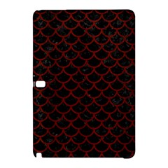 Scales1 Black Marble & Red Wood (r) Samsung Galaxy Tab Pro 10 1 Hardshell Case by trendistuff