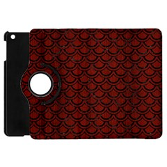 Scales2 Black Marble & Red Wood Apple Ipad Mini Flip 360 Case by trendistuff