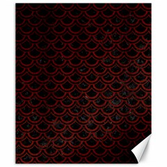 Scales2 Black Marble & Red Wood (r) Canvas 20  X 24   by trendistuff
