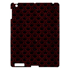 Scales2 Black Marble & Red Wood (r) Apple Ipad 3/4 Hardshell Case by trendistuff
