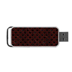 Scales2 Black Marble & Red Wood (r) Portable Usb Flash (one Side) by trendistuff