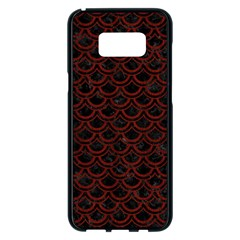 Scales2 Black Marble & Red Wood (r) Samsung Galaxy S8 Plus Black Seamless Case by trendistuff