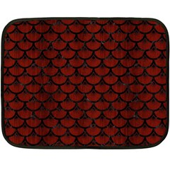 Scales3 Black Marble & Red Wood Double Sided Fleece Blanket (mini)  by trendistuff