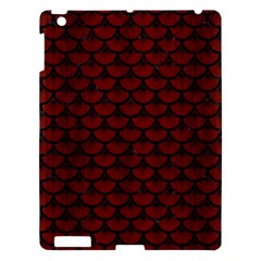 Scales3 Black Marble & Red Wood Apple Ipad 3/4 Hardshell Case by trendistuff