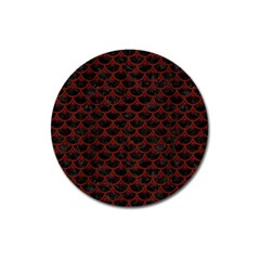 Scales3 Black Marble & Red Wood (r) Magnet 3  (round) by trendistuff