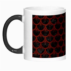 Scales3 Black Marble & Red Wood (r) Morph Mugs by trendistuff