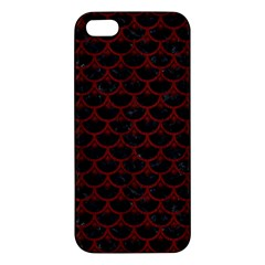 Scales3 Black Marble & Red Wood (r) Apple Iphone 5 Premium Hardshell Case by trendistuff