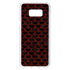 Scales3 Black Marble & Red Wood (r) Samsung Galaxy S8 Plus White Seamless Case by trendistuff