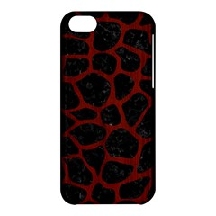 Skin1 Black Marble & Red Wood Apple Iphone 5c Hardshell Case by trendistuff