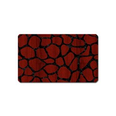 Skin1 Black Marble & Red Wood (r) Magnet (name Card) by trendistuff