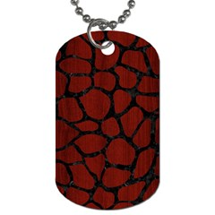 Skin1 Black Marble & Red Wood (r) Dog Tag (two Sides) by trendistuff