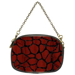 Skin1 Black Marble & Red Wood (r) Chain Purses (one Side)  by trendistuff