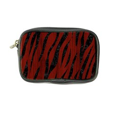 Skin3 Black Marble & Red Wood Coin Purse by trendistuff