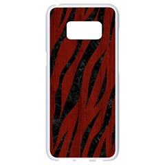 Skin3 Black Marble & Red Wood Samsung Galaxy S8 White Seamless Case by trendistuff