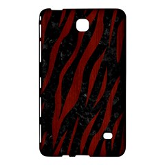 Skin3 Black Marble & Red Wood (r) Samsung Galaxy Tab 4 (8 ) Hardshell Case  by trendistuff