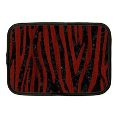 Skin4 Black Marble & Red Wood Netbook Case (medium)  by trendistuff