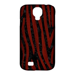 Skin4 Black Marble & Red Wood Samsung Galaxy S4 Classic Hardshell Case (pc+silicone) by trendistuff