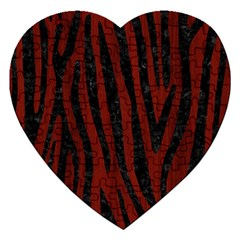 Skin4 Black Marble & Red Wood (r) Jigsaw Puzzle (heart) by trendistuff