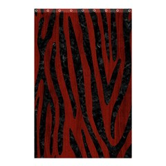 Skin4 Black Marble & Red Wood (r) Shower Curtain 48  X 72  (small)  by trendistuff