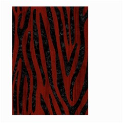 Skin4 Black Marble & Red Wood (r) Large Garden Flag (two Sides) by trendistuff