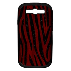 Skin4 Black Marble & Red Wood (r) Samsung Galaxy S Iii Hardshell Case (pc+silicone) by trendistuff