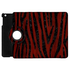 Skin4 Black Marble & Red Wood (r) Apple Ipad Mini Flip 360 Case by trendistuff