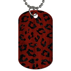 Skin5 Black Marble & Red Wood (r) Dog Tag (two Sides) by trendistuff