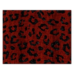 Skin5 Black Marble & Red Wood (r) Rectangular Jigsaw Puzzl by trendistuff