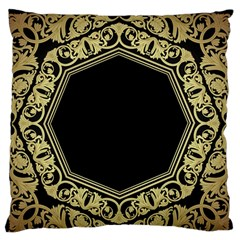 Art Nouvea Antigue Large Flano Cushion Case (two Sides) by 8fugoso