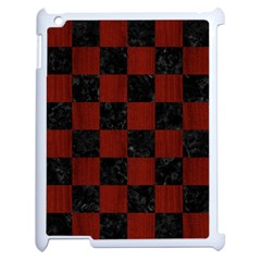 Square1 Black Marble & Red Wood Apple Ipad 2 Case (white)