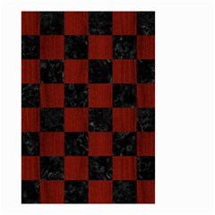 Square1 Black Marble & Red Wood Small Garden Flag (two Sides) by trendistuff