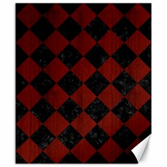 Square2 Black Marble & Red Wood Canvas 20  X 24   by trendistuff