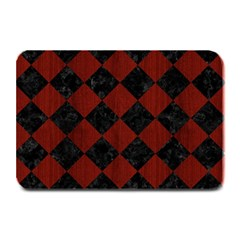 Square2 Black Marble & Red Wood Plate Mats by trendistuff
