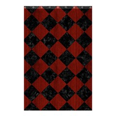 Square2 Black Marble & Red Wood Shower Curtain 48  X 72  (small)  by trendistuff