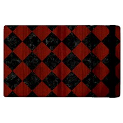Square2 Black Marble & Red Wood Apple Ipad 2 Flip Case